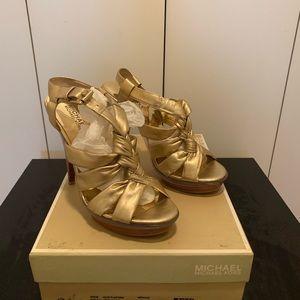 Michael Kors Metallic Gold Women's Platform Sandal